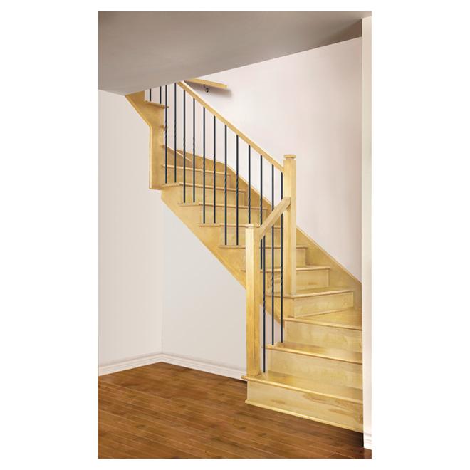 """Marche d'escalier en merisier sélect, 42"""", naturel"""