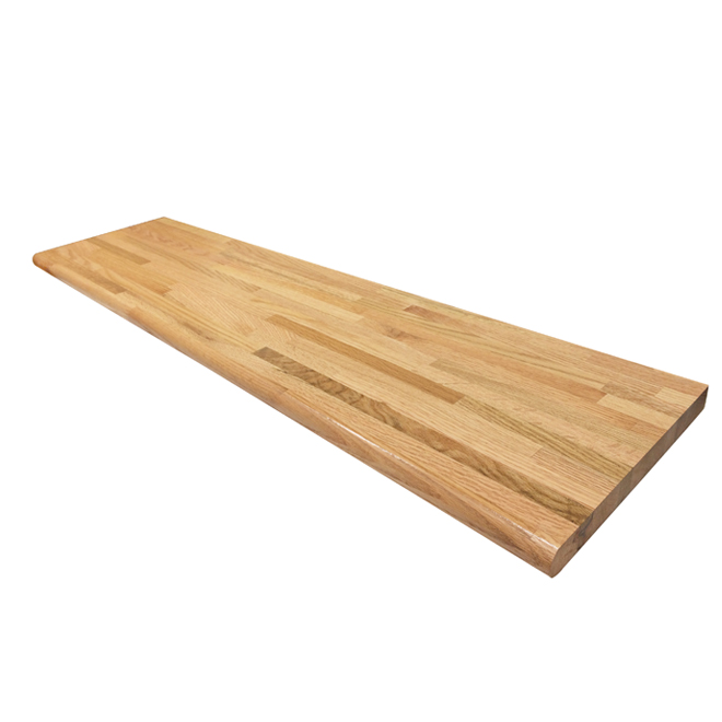 Chidaca Prevarnished Laminated Wood Stair - 42-in - Red Oak