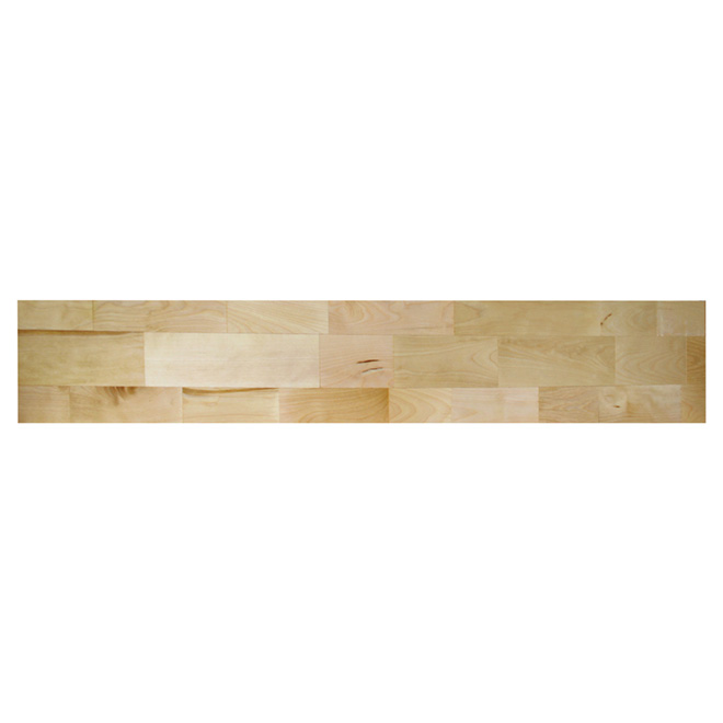 Contremarche en merisier Chidaca International ,75 x 7,5 x 42 po, naturel
