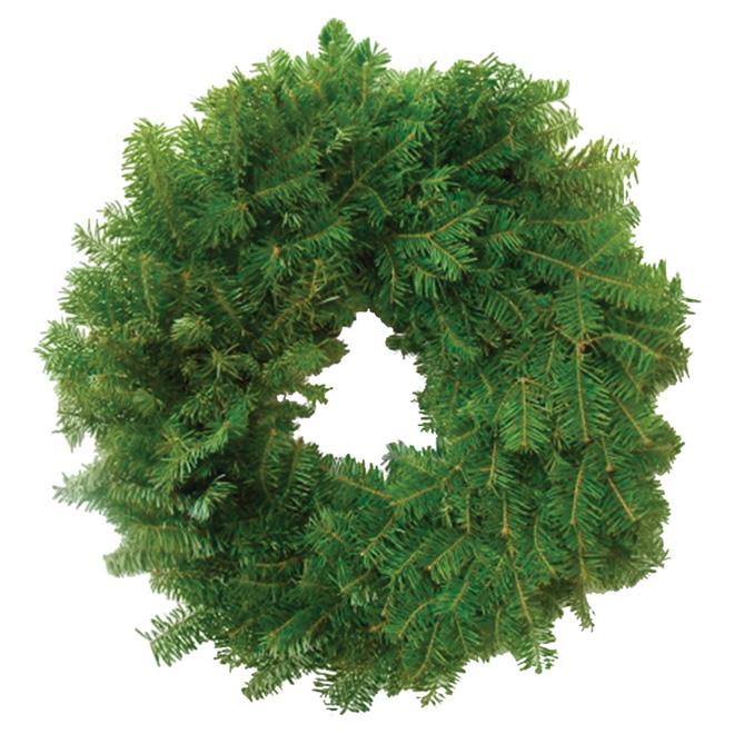 """Natural Balsam Fir Wreath - 12"""" - Green"""