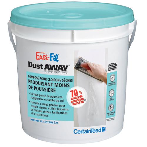 Ciment à joints Easi-Fil Dust Away, prémélangé, 12 L, blanc cassé