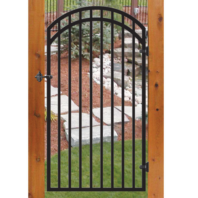 """Idaho"" Decorative Gate - 36"" x 68"" - Black"