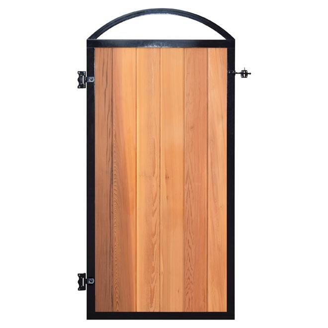 Cadre pour porte de clôture, noir, 33 5/8\