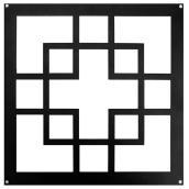 Insertion décorative pour clôture ou porte, Geo, noir