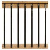 "Rectangular Balusters - 32"" - Galvanized Steel - Black"