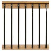 Balustres rectangulaires en acier galvanisé, 32