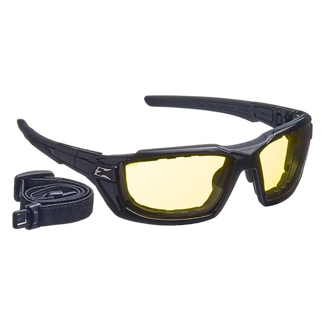 Lunette de sécurité Steele, pare-vapeur, jaune/noir