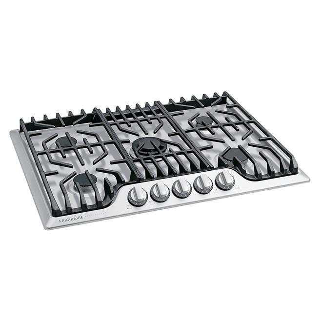 Surface de cuisson à gaz Frigidaire Pro encastrée, 30 po, acier inoxydable