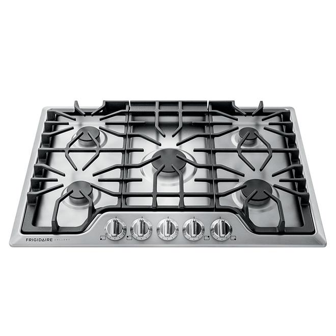 Surface de cuisson à gaz Frigidaire Gallery avec 5 brûleurs, 30 po, acier inoxydable