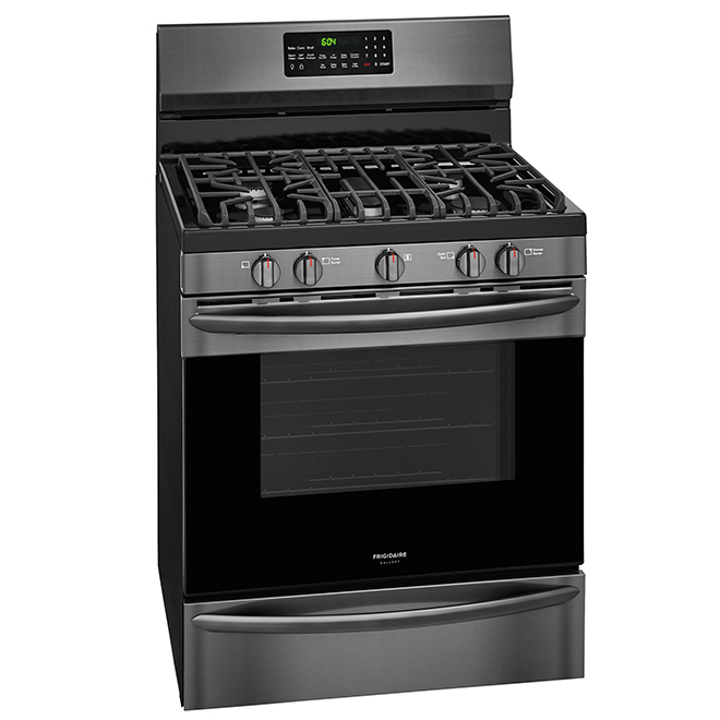 Gas Convection Range with Probe - 5 cu. ft - Black Stainless