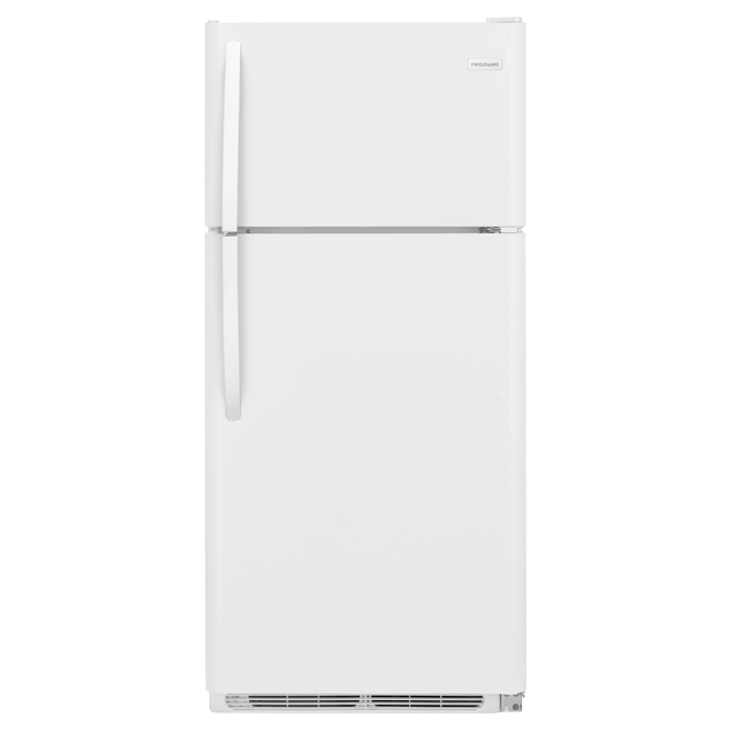"""Réfrigérateur à congélateur en haut, 30"""", 18 pi³, blanc"""