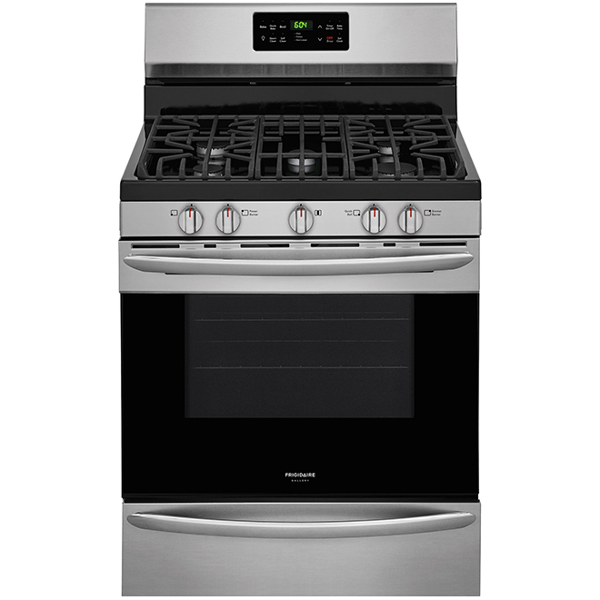 """Free-Standing Gas Range - 30"""" - 5 cu. ft - Stainless Steel"""