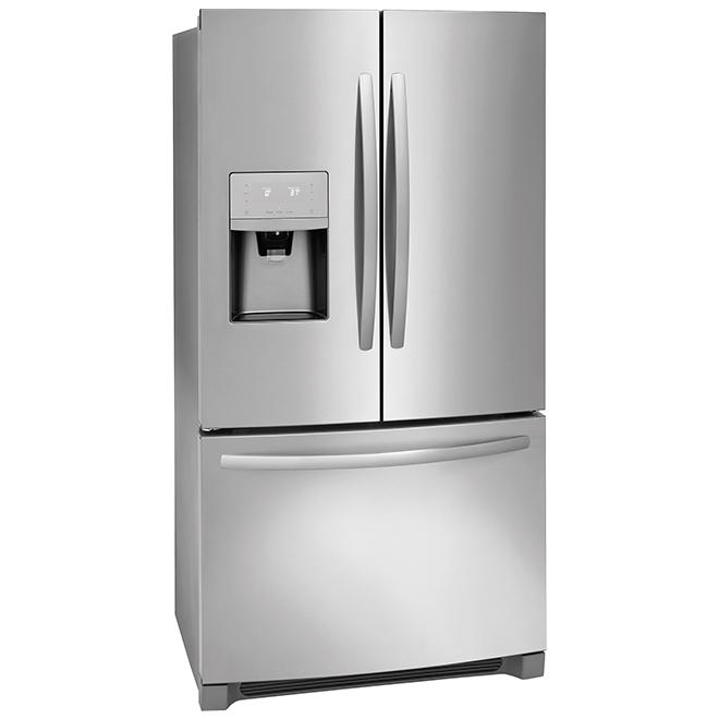 Réfrigérateur à portes françaises, 26,9 pi³, inox
