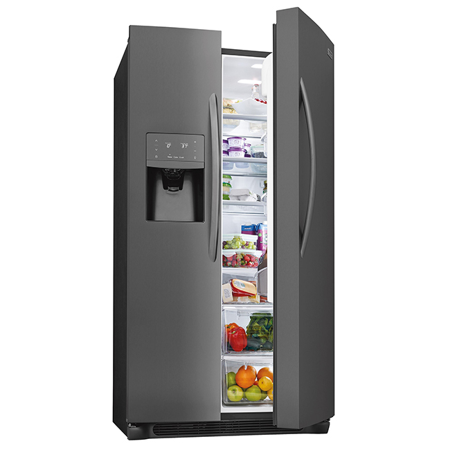 Side-by-Side Refrigerator - 22 cu. ft. - Black Stainless Steel