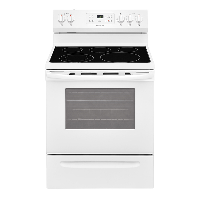 """Free-Standing Electric Range - 5.3cu.ft. - 30"""" - White"""