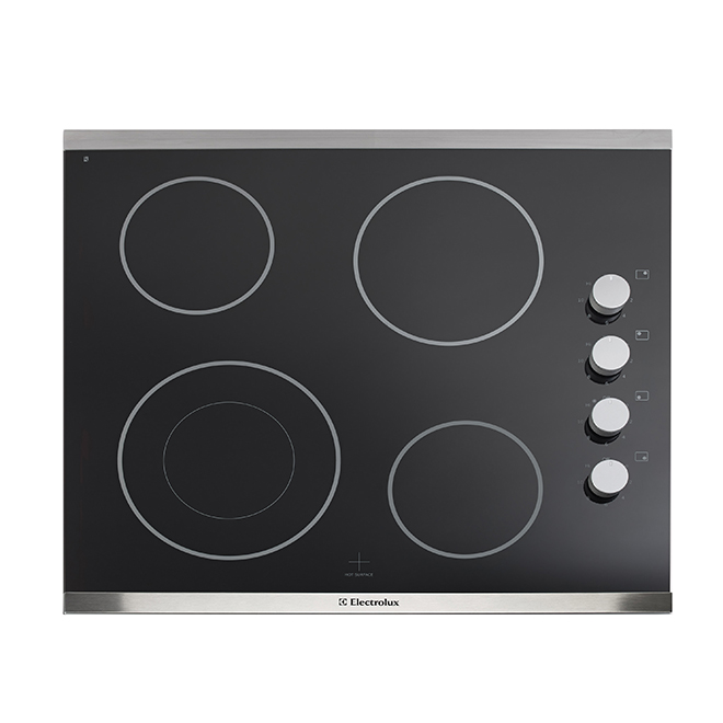 """Electrolux Electric Cooktop - Ceramic Glass - 4 Elements - 24"""" - Stainless Steel"""