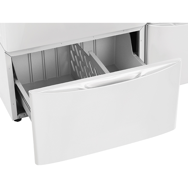 "Luxury-Glide(R) Pedestal with Storage Drawer - 27"" - White"