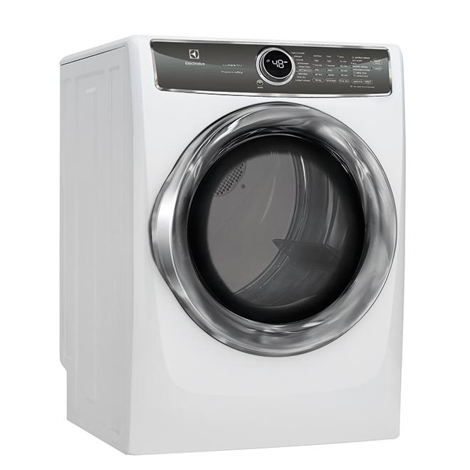 Sécheuse électrique frontale, Perfect Steam, 8pi³, blanc