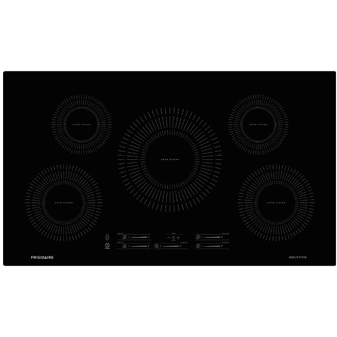 "Induction Cooktop with Auto Sizing(TM) - 36"" - Black"