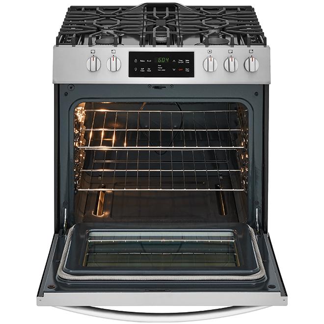 """Cuisinière autoportante à gaz, 30"""", 5,0 pi³, inox"""