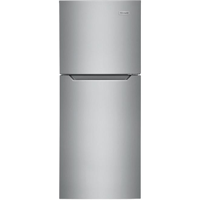 Réfrigérateur à congélateur supérieur, 11,6 pi³, acier brossé