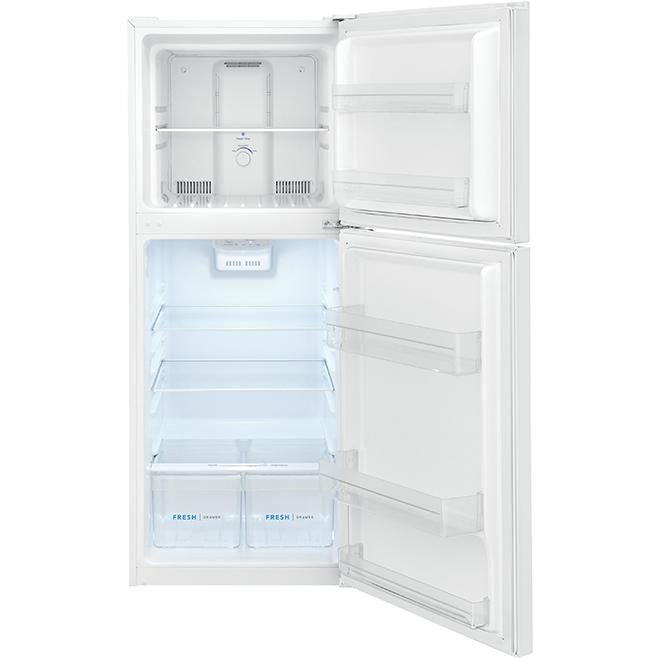 """Réfrigérateur à congélateur supérieur, 24"""", 11,6 pi³, blanc"""