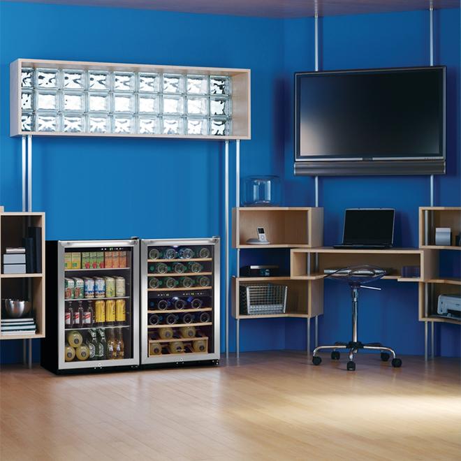 Refroidisseur à boissons Frigidaire(MD), 138 canettes, inox