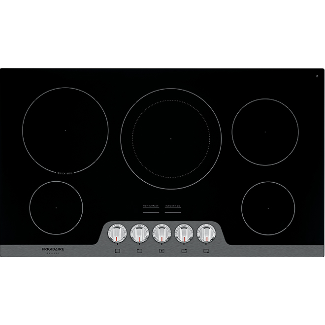 "Fits-More(TM) Cooktop - Ceramic Glass - 36"" - Stainless Steel"