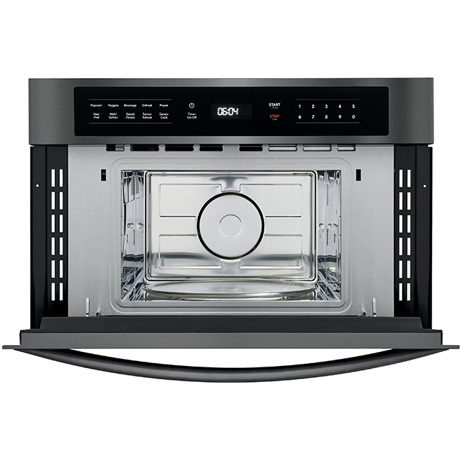 Drop-Down Door Microwave - 950 W - 1.6 cu. ft. - Black Stainless
