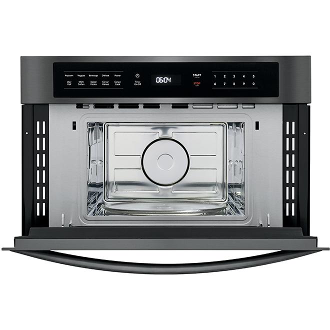 Drop-Down Door Microwave - 950W - 1.6cu.ft. - Black Stainless