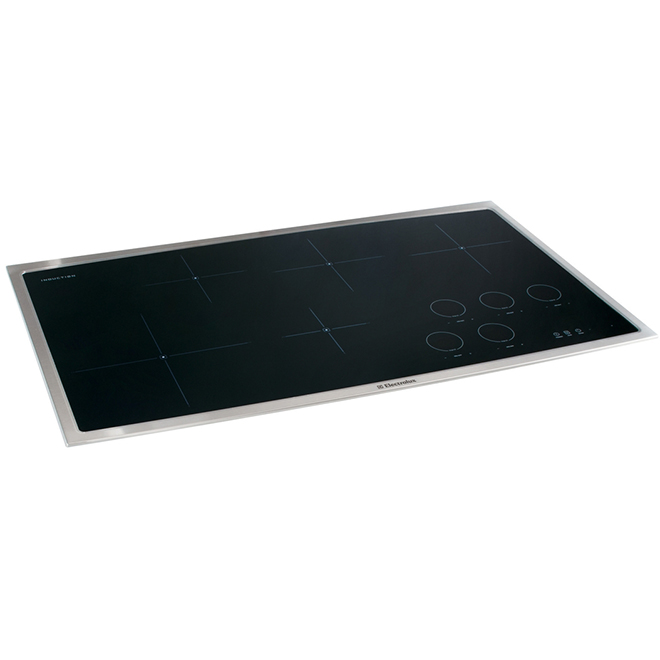 "Surface de cuisson à induction, 36"", vitrocéramique, inox"