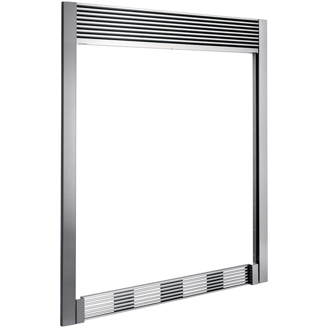 84'' Stainless Steel Double Louvered Trim Kit