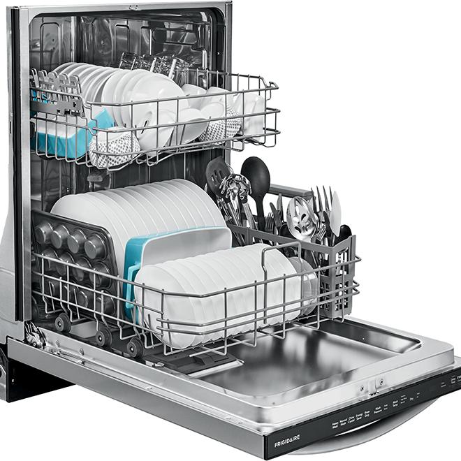 "Lave-vaisselle anti-trace encastrable Frigidaire(MD), 24"", inox"