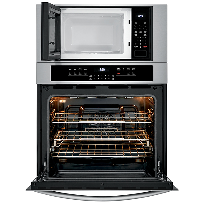 "Combination Wall Oven with Fits-More Microwave - 30"" - SS"