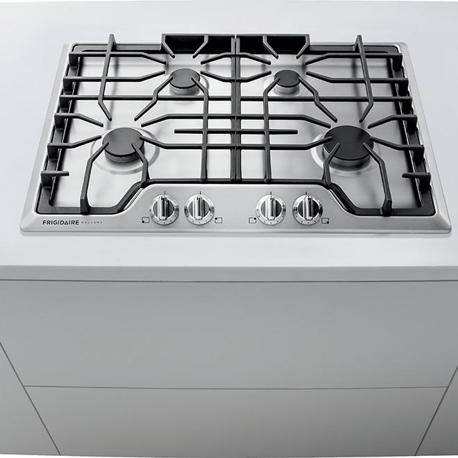 "Surface de cuisson Frigidaire Gallery(MD) au gaz, 30"", inox"