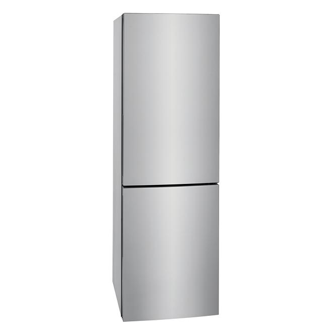 Réfrigérateur mince à congélateur inférieur, 11,8 pi³, inox