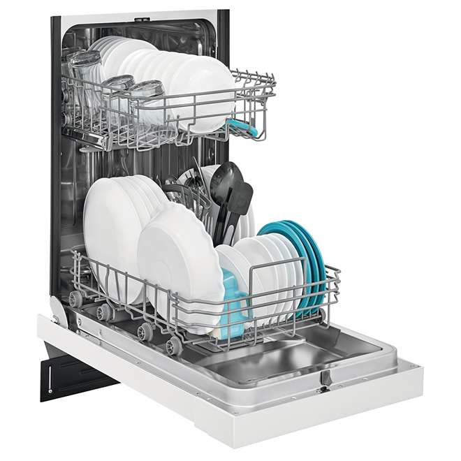 """Built-In Frigidaire Dishwasher - 8 Place Settings - 18"""" - White"""