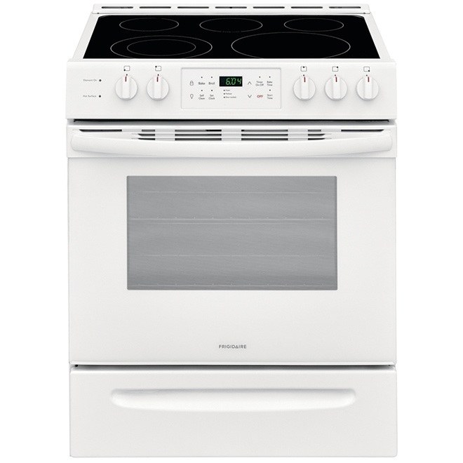 "Self-Cleaning Range - Ceramic Glass - 30"" - 5 cu. ft. - White"