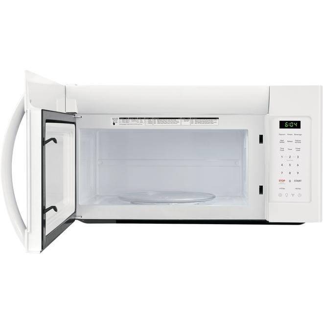 """Four à micro-ondes à hotte intégrée 30"""", 1,8 pi³, 1000 W, blanc"""