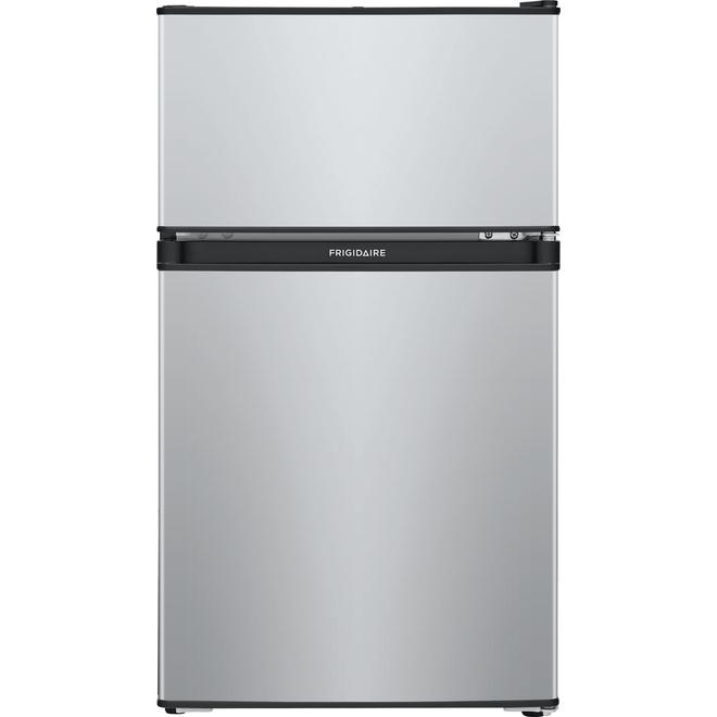 """Réfrigérateur à congélateur en haut Frigidaire, 19"""", 3,1 pi³, brume argentée"""