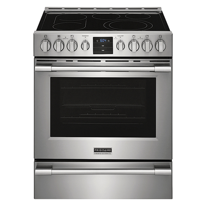 Frigidaire Professional Electric Range with Front Controls and Air Fry - 30-in - Stainless Steel