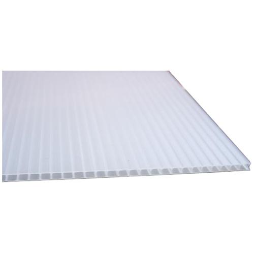 "EM Plastic Hi-Core Corrugated Sheet - 48"" x 96"" - White"