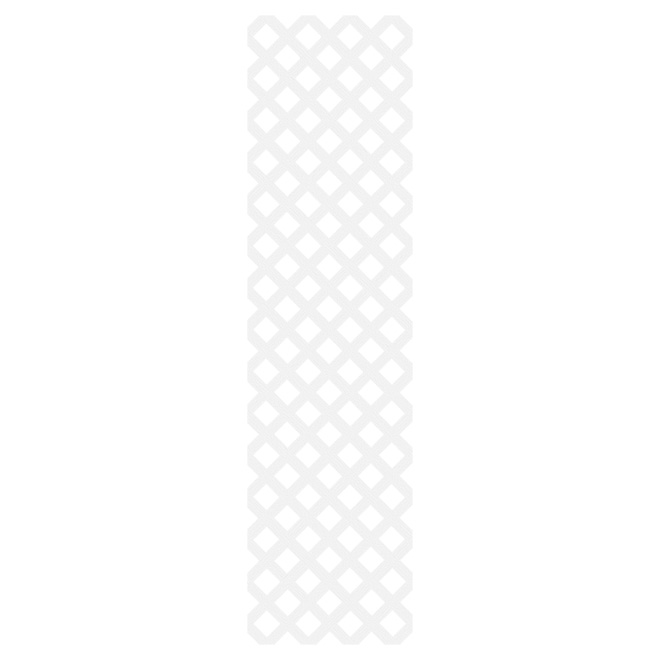 Treillis en PCV « Classic », 2' x 8', blanc