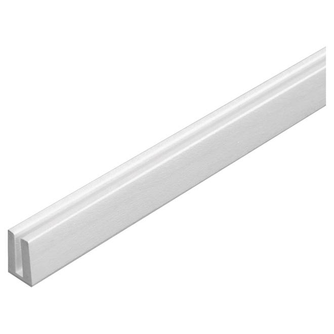 """PVC Lattice Cap 3/4"""" x 1/4""""x 8' - White"""