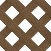 """Privacy"" PVC Lattice - Walnut"