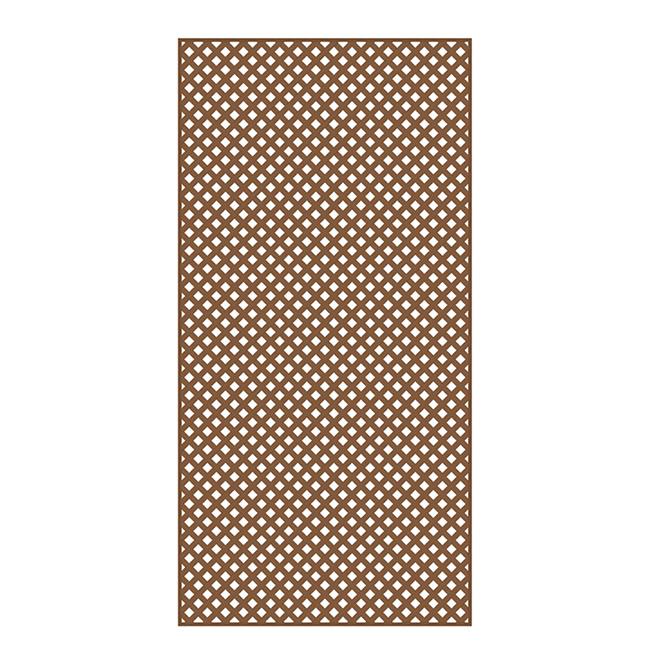 PVC Lattice 4' x 8' - Redwood