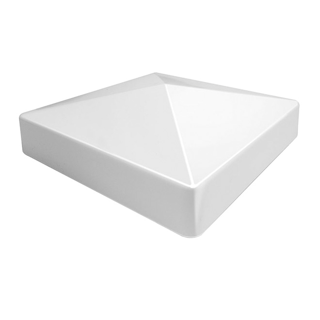 """Pyramid"" PVC Fence Cap - 5"" x 5"""