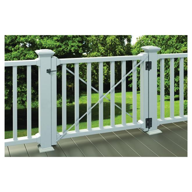 Fence Gate Kit - Spartan - 36 x 42 x 48'' - White