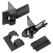 Charnières HD pour clôture, noir, paquet de 2