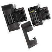 Charnières standard pour clôture, noir, paquet de 2